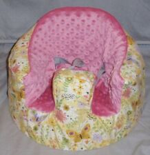 New Bumbo Floor Seat Cover • Yellow Butterfly Garden • Safety Strap Ready