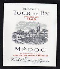 MEDOC VIEILLE ETIQUETTE CHATEAU TOUR DE BY 1946 73 CL    §11/04/18§