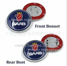 2x Saab Badge 9-3,9-5 Set Boot Back & Bonnet Front Logo Emblem 68mm
