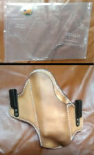 IWB CCW HOLSTER TEMPLATE SET FOR GLOCK 17 WITH ACCYS. AND SIMILAR SIZED AUTOS