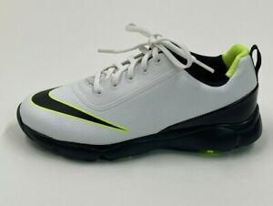 Nike Control Jr White Black Volt Golf Shoes Boys Size 3y 818734-101