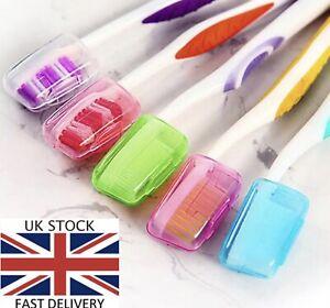 5 x Portable Toothbrush Head Covers Travel Camping Holder Brush Cap  Set UK