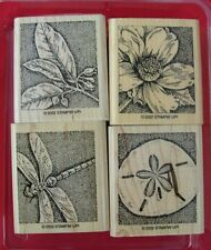 NATURE'S WONDERS 2002 STAMPIN' UP! FOUR RUBBER STAMPS