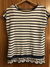 Next Dual Layer Blue And White Stripe Open Back Top 12