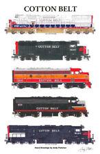 "Cotton Belt Locomotives 11""x17"" Poster by Andy Fletcher signed"