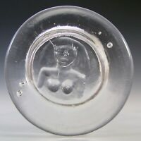 "Boda Vintage Clear Glass Nude Lady ""Eve"" Bowl by Erik Hoglund"