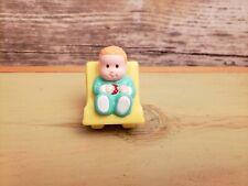 "Vintage Baby Figurine Geoffrey Inc 1999 Plastic Dollhouse Toy Cake Topper - 1.5"""