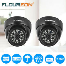 2x 3000TVL 1080P AHD CCTV DVR Dome Camera Indoor Outdoor 24pcs IR Night Vision
