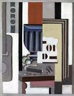 Framed canvas art print giclee NATURE MORTE (LE VERRE) Fernand Léger