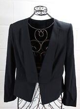 BCBG Max Azria Penn Black Tuxedo Style Lapel Back Peplum Blazer Jacket M