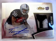 TAIWAN JONES RC 2011 TOPPS FINEST 3-COLOR PATCH AND ROOKIE AUTO #294/599-RAIDERS