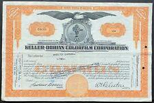 KELLER-DORIAN COLORFILM CORP Stock 1932 Historic 1908 Paramount Kodak Blattner
