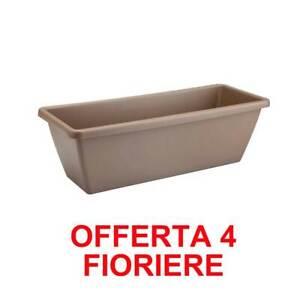 OFFERTA 4 FIORIERA BARCELONA TROUGH 40CM TAUPE ELHO