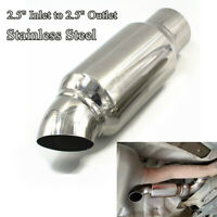 """2.5"""" Inlet to 2.5"""" Outlet Car Muffler Exhaust Pipe Tip Universal Stainless Steel"""