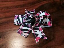 1 X 3 INCH MINNIE MOUSE ZEBRA PRINT  HAIR BOW  WITH  ALIGATOR CLIP HEADBANDS