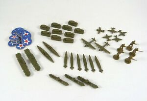 Axis & Allies Game Pieces American Ships Troops Tanks Planes Markers MB ©1984-87