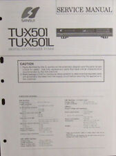 1Sansui TU-X501/X501L tuner service repair workshop manual (original copy)