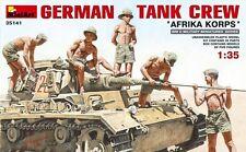 "1:35 MiniArt 35141 - German Tank Crew.""Afrika Korps"" - 5 Figure Set  Model Kit"