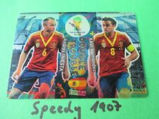 FIFA World Cup Brasil 2014 Double Trouble Spanien Iniesta Xavi Panini Adrenalyn