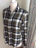ZARA Black Ivory Plaid Check Sequin Shirt Size XS (8/10) Loose Fit Long Sleeve