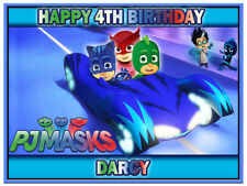 PJ Masks Personalised Edible Birthday Party Cake Decoration Topper Image
