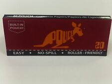 Pouch Cigarette Rolling Papers The Half Rolled Papers Size 1 1/4 20 Pouches