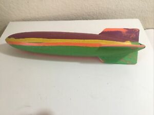 "Original Vintage SwimWays Toypedo  Torpedo Pool Toy 11.5""Orange,Blue Green..."
