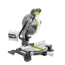 """RYOBI 10"""" Compound Miter Saw LED Light Corded Electric Blades Allen Key Wrench"""
