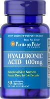 Puritan's Pride Hyaluronic Acid 100mg X30 Rapid Release Caps For Joints & Tissue