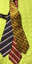 GREAT Neck tie LOT of 3 JOS. Joseph A Bank Silk Repp Classic Stripe Plaid