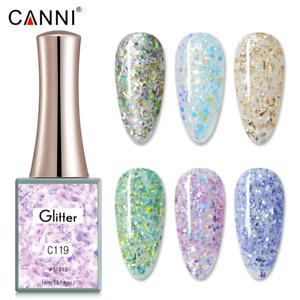 CANNI UV Nail Gel Polish GLITTER SERIES Shimmer Varnish Soak Off LED 16ML