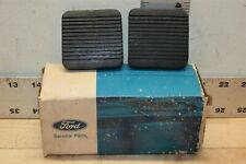 NOS 76-82 Ford Courier D67Z-2457-A Clutch Brake Pedal Pad Pair OEM