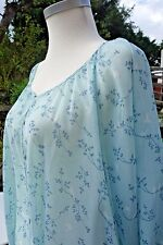 Blue Phase Eight (8) Bird Print Blouse/Top Size 12/14 - Mother Pearl Buttons