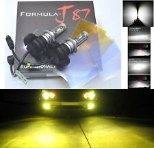 LED Kit X3 50W H7 3000K Yellow Two Bulbs Head Light Low Beam Replacement Upgrade