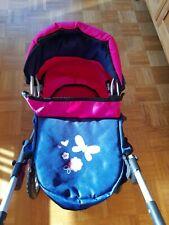 Puppenwagen Bayer wie Neu mit Wickeltasche pink/blau