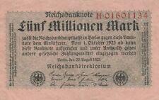 * Ro. 104a - 5 millones de Mark-Deutsches Reich - 1923-Serie: h *