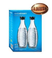 2 Bottiglie da 0,75 litri in Vetro SODASTREAM x Gasatore Acqua Crystal e Penguin