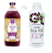 32oz GENESIS TODAY Organic ACAI 100 Pure Juice Liquid Supplement 30g Superfruit