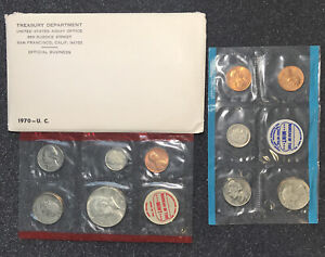 1970 U.S. Mint Set Uncirculated Original Government Packaging Excellent