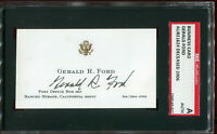 Gerald Ford signed business card SGC
