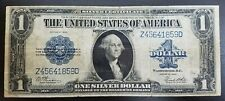 Old Paper Money 1923 One $1 Dollar Blue Seal Large Size Silver Certificate