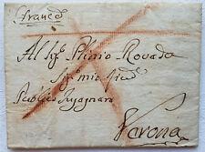 1792 Vorphila Republik Venedig Vicenza Verona Rötelstrich Andreaskreuz Franca