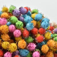 1000x Craft Pom Poms Soft Fluffy Balls Acrylic Felt Embellishments Kid Pomp BX