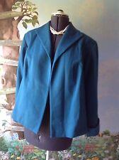 Elisabeth by Liz Claiborne Petite Long Sleeve Teal Green Suit Jacket Blazer SZ 1