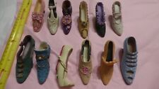 Lot of 12 Miniature Decorative collectible Shoes