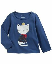 New listing First Impressions Infant Girls Cotton Cozy Cat T-Shirt  Blue 18 Months