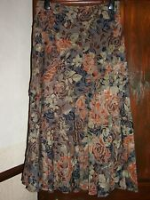 Orange Floral Wool Mix Skirt by Per Una @ Marks & Spencer Size 14R