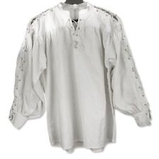 Pirate Medieval Cosplay Steampunk Renaissance Larp SCA Shirt Laced sleeve