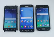 Lot of 3 Working Samsung Galaxy Android Smartphones - J1 Ace / J3 / Amp 2