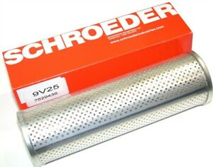 """Up to 12 New 9V25 Schroeder 25 micron, 2.9"""" Dia x 9"""" Hydraulic Filters"""